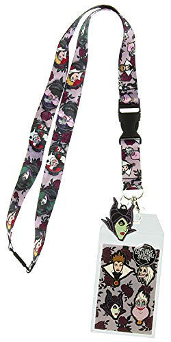 Disney Villains Lanyard with ID Holder and Rubber Charm -