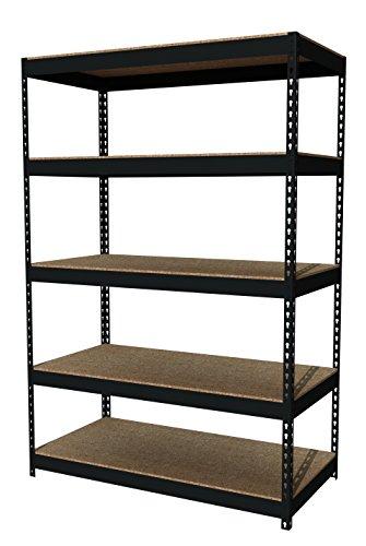 "Office Dimensions Riveted Steel Shelving 5-Shelf Unit, 48"" W"