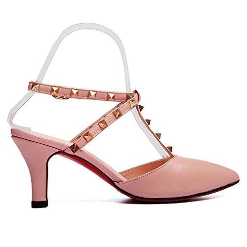 Nine SevenPumps Heels - Zapatos con correa de tobillo mujer Rosa