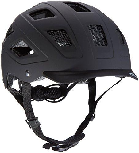 Cicli Bonin Unisex Adult Abus Hyban With Led Helmets - Velvet Black, Size 58/63