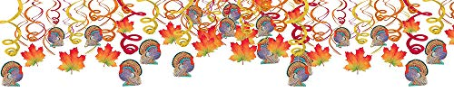 Colors of Autumn Thanksgiving Party Foil Swirls With Hanging Cutouts | Mega Value Pack | 30 Ct. for $<!--$6.16-->