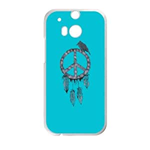 HTC One M8 Cell Phone Case White A dreamcatcher for the peace LQ7372130