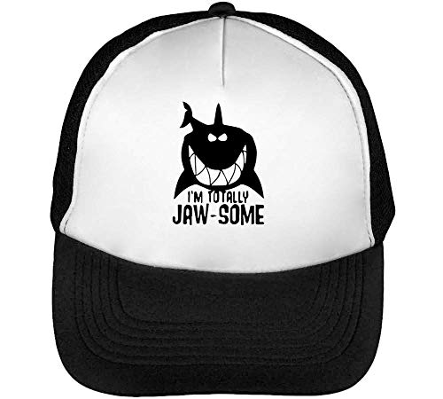 I'M Totally Jaw - Some Gorras Hombre Snapback Beisbol Negro Blanco