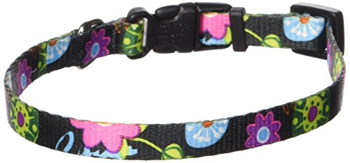 Coastal Pet 06321 A WDF12 Adjustable Collar, 3/8-Inch, Wildflower