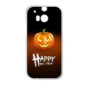 HTC One M8 Cell Phone Case White Halloween Pumpkin Zsyfu
