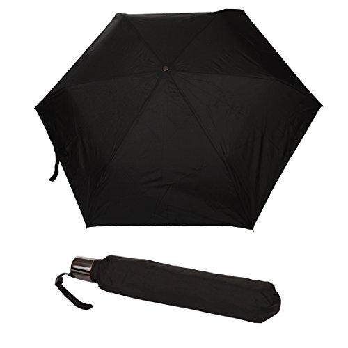 Mini Regenschirm | Taschenschirm | klein, leicht & stabil | inkl. Schutzhülle | schwarz