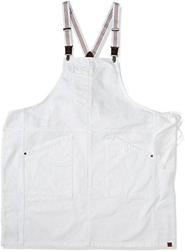 Chef Works Men's Berkeley Bib Apron, White, One Size