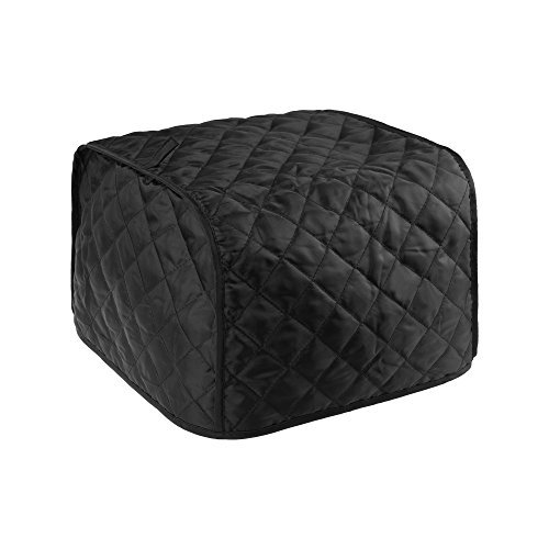 BCP Polyester Fabric Quilted Four Slice Toaster Appliance Dust-proof Cover (Black) -