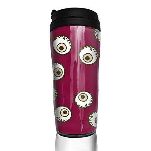 Cool Halloween Eyeball Fashion Insulated Traveler Coffee Mug Tumbler Coffee Cup 12 Oz