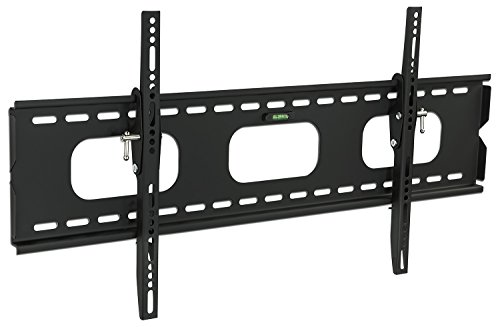 Mount-It Low-Profile Tilting TV Wall Mount Bracket for 75 70 65 60 55 50 inch LCD, LED, OLED, 4K, Plasma Flat Screen Televisions - 220 lbs Capacity, 1.5 Inch Slim Profile, Fits VESA 850x450, 600x400, Black