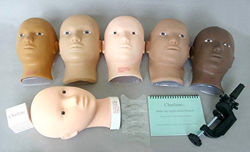 Charlene Erasable Make-up Mannequin Mask Kit - Light Skin Tone, Open Eyes ()