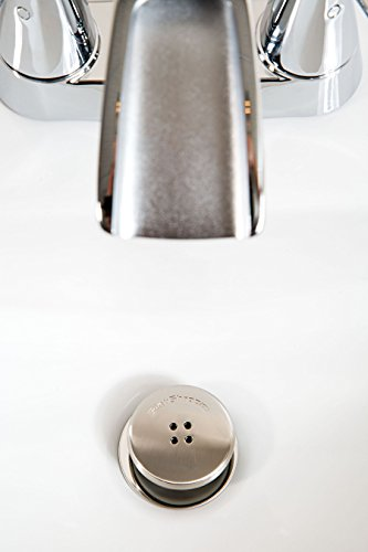 SinkShroom Nickel Edition Revolutionary Bathroom Sink Drain Protector Hair Catcher Strainer Snare