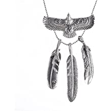 Heavy Sense Antique Silver Goros 19Pcs Eagle Feather and 4 Pcs Feature Charms