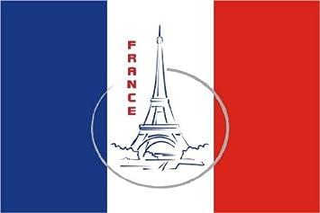 Michael Rene Pflüger Barmstedt 8 4 X 5 4 Cm Autoaufkleber Fahne Von Frankreich Mit Paris Eiffelturm Aufkleber Sticker Fürs Auto Motorrad Handy Laptop Auto