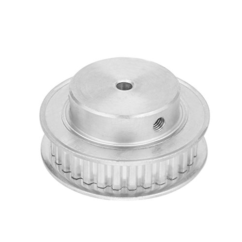 Aexit Aluminum XL Electrical equipment 30 Teeth 5mm Bore Timing Belt Idler Pulley Flange Synchronous Wheel for 10mm Belt 3D Printer CNC