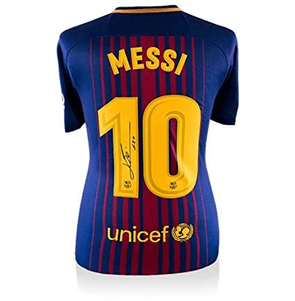 uk availability bf0eb 0e287 Lionel Messi Autographed Jersey - Home #10 - Icons COA ...
