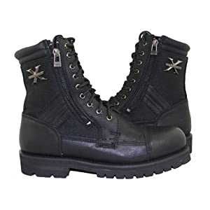Xelement 1506 Impact Mens Black Motorcycle Biker Boots - 11