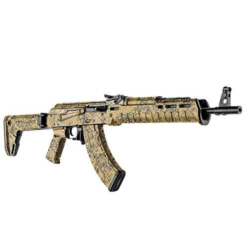 GunSkins AK-47 Rifle Skin Camouflage Kit DIY Vinyl Wrap with precut Pieces (PenCott Badlands)