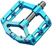 """Alston 3 Bearings Mountain Bike Pedals Platform Bicycle Flat Alloy Pedals 9/16"""" Pedals Non-Slip Alloy Fla"""