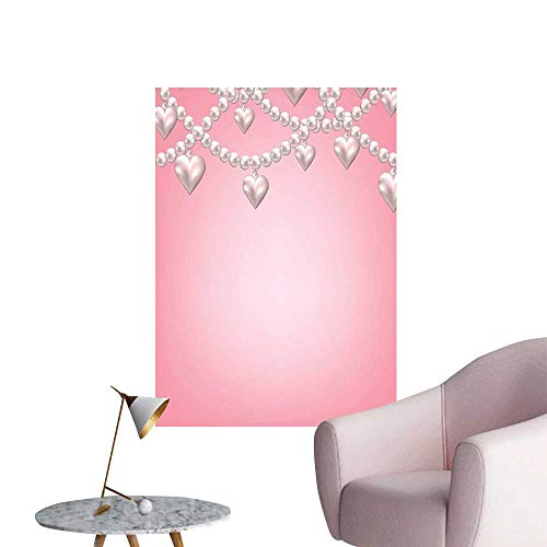Vinyl Wall Stickers Pearl Bead Necklace V Tage Jewel Love Celebrat Work Beige P Perfectly Decorated,32