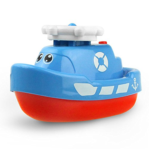 Joyfun Toys for Boys 3 Year Old Minus, Bath Toys Floating Squirt Ship Boat Swimming Pool Bathtub Beach Toys for Kids Christmas Birthday Gifts JF-SWJ-Boat Random Color