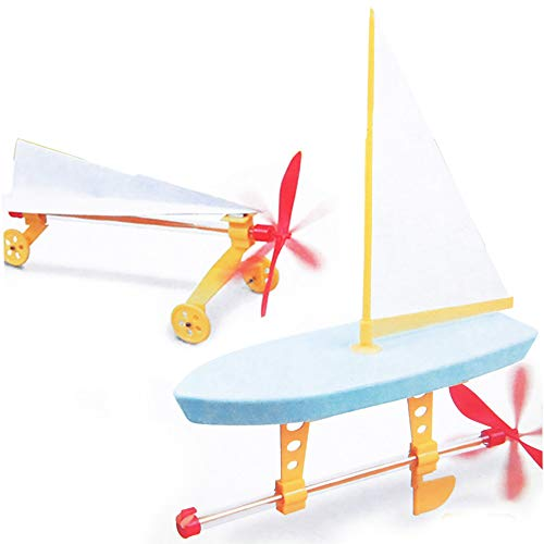 Cool Toys DIY Toys Gift Rubber Educational Toys Band Power Engine Model for Sailboat&Car Toy (As Show)]()