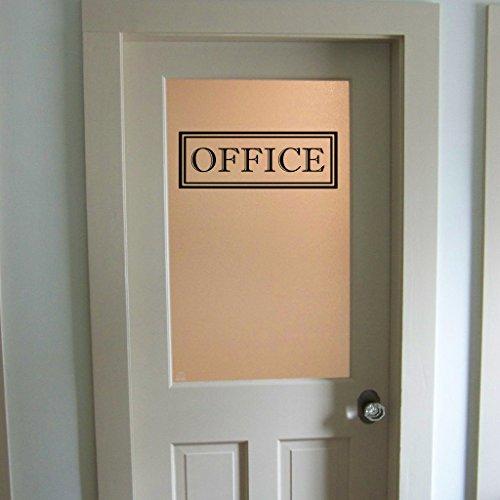 Beverly465 Door Decal Modern Farmhouse Style For Front Door Decals Door Vinyl Decal 13.3'' W x 5'' H Office by Beverly465
