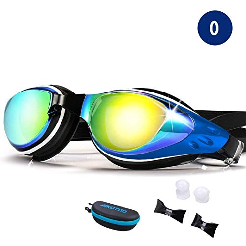 Women's Glasses Men Women Waterproof Cool Glasses Anti Fogging Adjustable Swimming Goggles Ultra Clear With Ear Plug Integrated Fashion Foldable Neither Too Hard Nor Too Soft