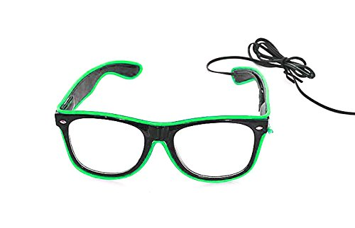 WeGlow International New and Improved El Wire Glasses - Green