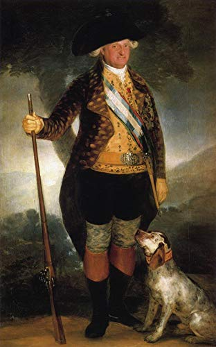 $50-$2000 Hand Painted Art Paintings by College Teachers - King Carlos IV in Hunting Costume Francisco de Goya Oil Painting Wall Decor - Large Size 18 ()