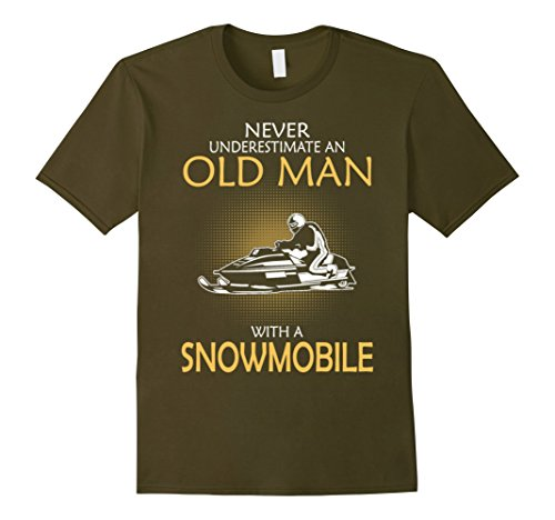 Never Underestimate Old Snowmobile T Shirt