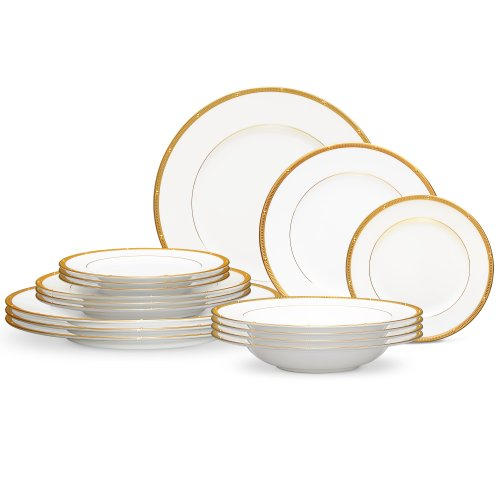 Noritake Gold Dinnerware - Rochelle 16 Piece Dinnerware Set Color: Gold