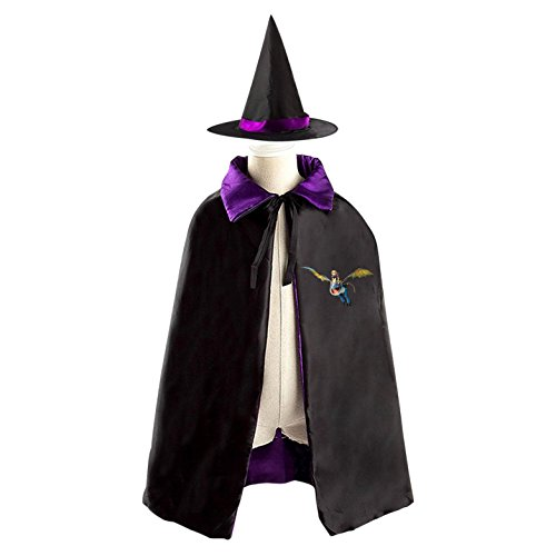 How To Train Your Dragon Halloween Costumes Decoration Cosplay Witch Cloak with Hat (Hiccup And Astrid Halloween Costume)