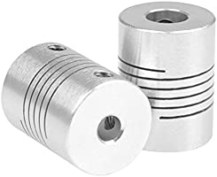 3D Printer Coupler Flexible Couplings 5mm to 8mm NEMA 17 Shaft for RepRap 3D Printer or CNC Machine Eewolf