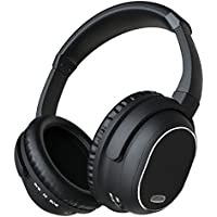 ALZN Active Noise Cancelling Headphones, Wireless Over-ear Stereo Earphones with Microphone and Volume Control