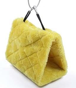 Tamaño M amarillo nethara jaula diftérica acurrucarte hamaca pájaro feliz campaña Bunk loro mysticals CION cama