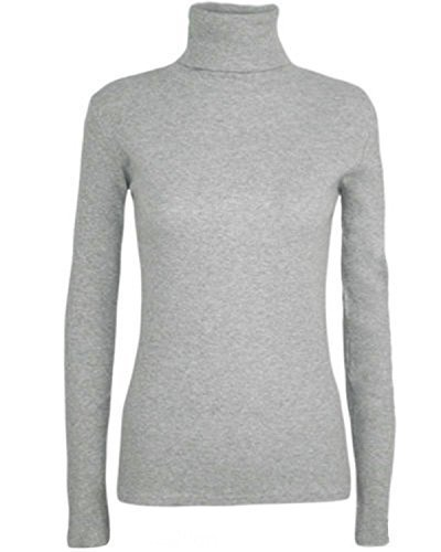 Camiseta de manga larga y cuello cisne para mujer e919f6ce7d65