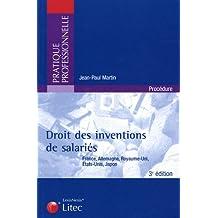 DROIT DES INVENTIONS DE SALARIÉS 3ED.