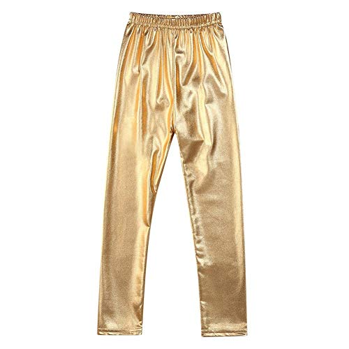 Milila Girls Shiny Metallic Dance Fashion Gold Silver Leggings