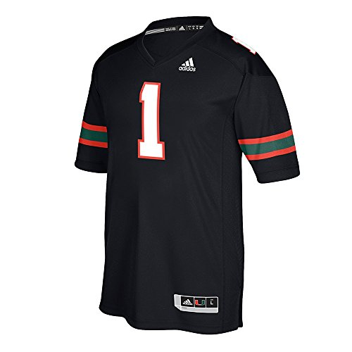 adidas Miami Hurricanes Black Special Games Replica Football Jersey (Medium)