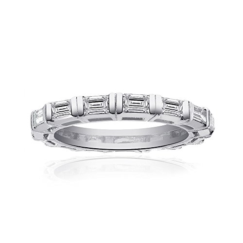 Avital & Co. Ladies Baguette Cut Diamond Wedding Eternity Band in Platinum (1.00ctw)