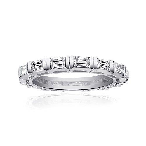 (Avital & Co. Ladies Baguette Cut Diamond Wedding Eternity Band in Platinum (1.00ctw))
