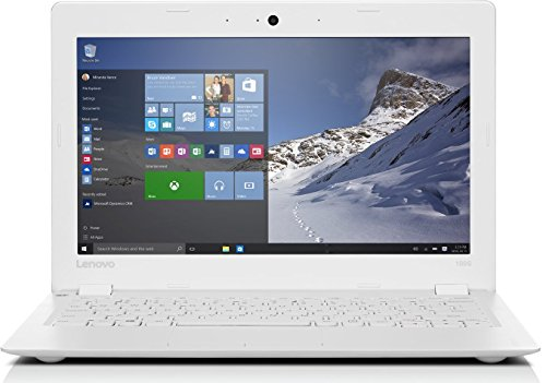 Lenovo 100S-11IBY 29,26 cm (11,6 Zoll HD) Notebook (Intel Atom Z3735F Quad-Core Prozessor, 2GB RAM, 32GB SSD, 100GB Cloud Speicher, Intel HD Grafik, HDMI, Windows 10 Home) weiß