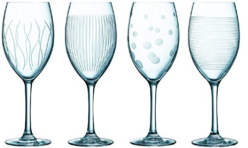 Luminarc 8010905 Lounge Club Verres à Vin Transparent 16, 7 x 16, 89 x 22 cm Lot de 4