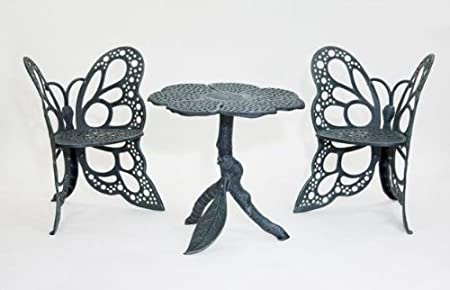 Amazon.com : Butterfly Bistro Set Antique : Outdoor And Patio Furniture  Sets : Garden U0026 Outdoor