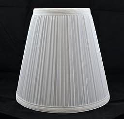 Urbanest 1101484 Off White Mushroom Pleated Hardback Lamp Shade 5x9x8.5 Inch (Spider)