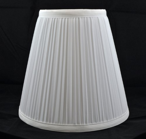 Pleated Lamp Shades - Urbanest 1101484 Off White Mushroom Pleated Hardback Lamp Shade 5x9x8.5 Inch (Spider)
