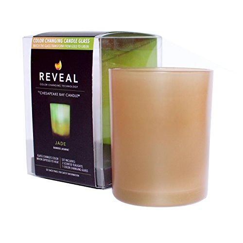 Jasmine 3 Light Bath (Chesapeake Bay Candle Reveal Jade Color Changing Tealight Set, Bamboo)
