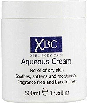 XBC Aqueous Cream Emollient 500ml Large Tub Relief for Dry Skin