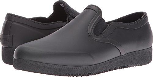 Hunters Boots Women's Original Refined Rubber Slip On Sneakers, Black, 9 B(M) US